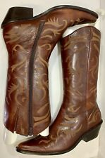 MATISSE Women��s Cowboy Leather Upper Mid-Calf Zip Up Brown Boots Size 8M