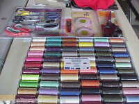 Sewing Gift Pack,72 Threads,5 Scissor Pack,Measure,Pinking Shears & Snippers