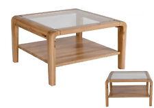 *Greta / Couchtisch Stubentisch Tisch Glastisch Wildeiche Massiv Bianco