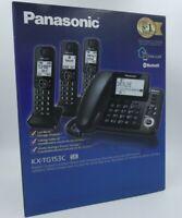 Panasonic Telephone DECT 6.0 KX-TG153 Landline Corded + 3 Handsets + Answering