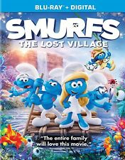 Smurfs The Lost Village (Blu-ray Disc, 2017, Includes Digital) NEW Get Smurfy