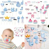 20/25/30pcs Baby Shower Photo Booth Props Boy Girl Birthday Newborn Party Decor