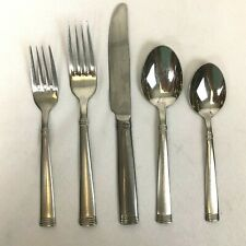 5 Piece Place Setting Wallace Napoli Frost Stainless Flatware Fork Knife Spoon