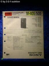 Sony Service Manual M 405 / 505 (#1158)