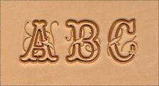 3/4 inch (19.0 mm) SCRIPT ALPHABET LEATHER STAMPING SET  by TANDY