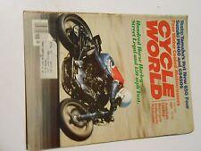 JULY 1980 CYCLE WORLD MAGAZINE,YAMAHA 650/4,SUZUKI PE400,GS450S,HARLEY 74,80,AMA