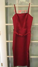 Red satin dress Ladies size 10 ladies womens spaghetti strap strapleless formal