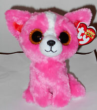 Ty Beanie Boos - Pashun the Pink Dog (Exclusive) (6 inch) - 2016 New ~ In Hand