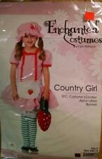 GIRLS COUNTRY GIRL COSTUME SIZE SMALL INCLUDES APRON DRESS & BONNET