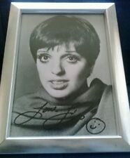 "LIZA MINELLI-HAND SIGNED 7""x5"" PHOTO. FRAMED. 1980s. COA. + CONCERT TICKET 2011."