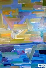 IMPRESSIONISM SEASCAPE ABSTRACT PAINTING ON CANVAS ORIGINAL MODERN ACRYLIC ART