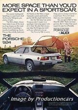 1978 1979 Porsche 924 Original Advertisement Print Art Car Ad J743