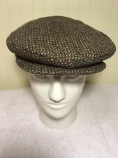 Young An Newsboy Cap Cabbie Hat Medium Wool Tweed Ear Warmer