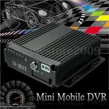 4CH Car Vehicle AHD Mobile DVR Realtime Video/Audio Recorder SD Card w/ Remote