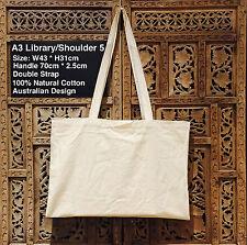 A3 Library Calico Bag Style 5 Bulk Calico Bags H31cm x W43cm Pkts:1-200