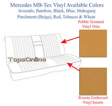 Mercedes 450SLC 280SLC 350SLC MB-Tex Vinyl Front & Rear Seat Covers 72-79 C107