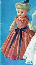 "Dolls clothes crochet pattern. 8"", 10"" 12"" & 19"" doll .( V Doll 170)"