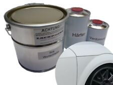 3,5 Litros Set 2k Pintura Audi VW LY9C ibisweiß Uni ninguna Laca Transparente