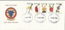 Stamps Hutt River Province 1973 flowers strip of 5 on generic Fdc inc insert