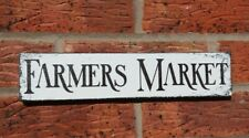 Rustic Farmers Market kitchen plaque wooden free standing sign