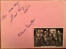 TT y Speedway especial; Frank Varey & Oliver Langton Vintage autógrafos & Tarjeta
