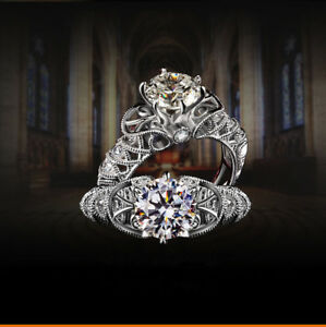Women Wedding Silver Plated Band Rhinestone Crystal Ring Rings Gift Size L N P