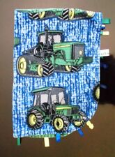 John Deere Security Baby Blanket ~ Handmade ~ Taggies, Green, Trackers Deer Farm