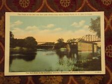 Vintage Postcard Forks Of The Red And Red Lake Rivers, Grand Forks, N.D.