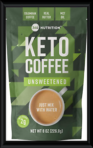 360 Nutrition Instant Keto Coffee - Just Add Water (Unsweetened), 8oz.