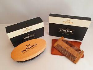 Beard Kit, Boar Bristle Beard Brush No 1 & Handcrafted Beard Comb No 1, Gift Set