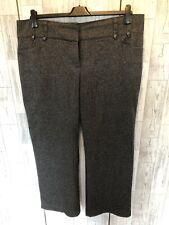 Monsoon Grey Tweed Wool Blend Wide Leg Trousers 18/46*