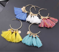 Women Bohemian Long Tassel Earrings Fringe Boho Dangle Earrings Fashion Jewelry