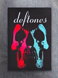 Deftones patch sew on printed textile patch hard rock band alternative metal