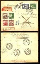 GERMANY  Sc 486-89, C 59-60 ON COVER  REGIST COVER TO SWITZ FVF