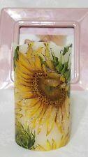 """Pomp Flameless Candle - Glitter Sunflowers 🌻 5"""" Pillar w/ Timer Night Light 🌻"""