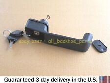JCB BACKHOE - DOOR HANDLE WITH 2 KEYS (PART NUMBER 123/06547 701/45501)