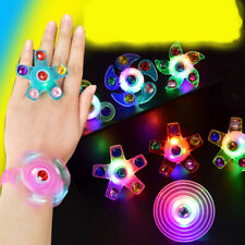 1/5Pcs Light Up Spinning Ring Stress Relief Kids Toys Party Favors Supplies