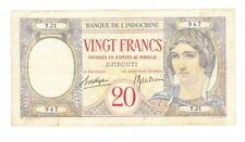 INDOCHINE 20 FRANCS DJIBOUTI ECRITURE ROUGE          OCCASION