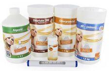 Starterset Chlor Chlortabs Chlorgranulat pH-MINUS Algezid Thermometer