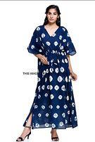 NEW Cotton Tie Dye Kaftan Long Dress Festival Beach Resort Wear Free Size Caftan