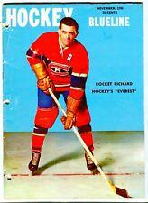 "Hockey ""Inside the Blueline"" November 1956"