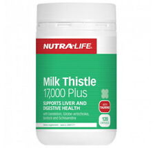 New NUTRALIFE Milk Thistle 17,000 Plus 120 Capsules Liver and Digestive Support
