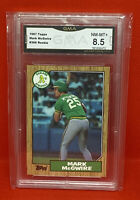 1987 Topps Mark McGwire ROOKIE RC #366  Oakland A's GMA 8.5 NM- MT+