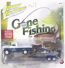 JOHNNY LIGHTNING GONE FISHING S2 1959 FORD F-250 with BOAT & TRAILER A 1/2,004