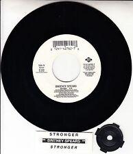 "BRITNEY SPEARS  Stronger 7"" 45 rpm vinyl record + juke box title strip RARE"