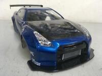 TETSUJIN 1/10 RC NISSAN R35 GTR LB☆PERFORMANCE BLUE PAINTED BODY w/ CARBON HOOD