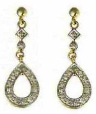 Diamond 9 Carat Yellow Gold Round Fine Earrings