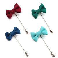 Men Lapel Pins Bow Handmade Boutonniere Stick Brooch Pin Men Accessories LS