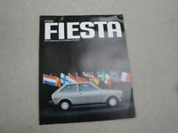 Ford Fiesta Advertising Brochure Built in Germany