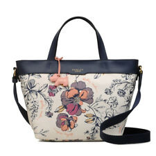 Radley London Sketchy Floral Medium Zip-Top Multiway Bag White NEW